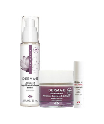 Advanced Peptide and Collagen Set - Moisturizer Pump, Serum Jar, and Overnight Peel Sample