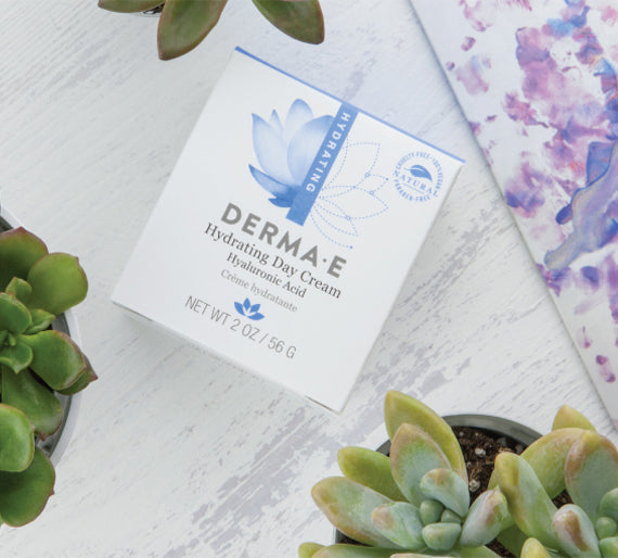 Derma E Hydrating Day Cream on Table.
