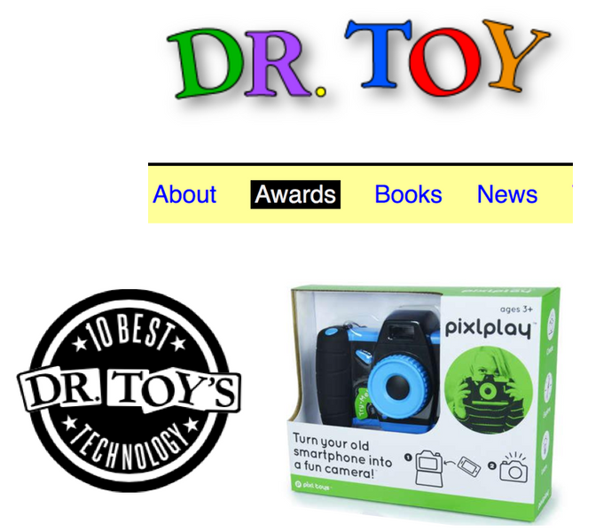 Pixlplay Named Top 10 Technology Toy by Dr. Toy!!
