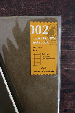 Traveler's Notebook Refill 002 - Grid Paper