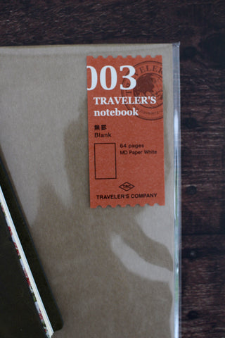 Traveler's Notebook Refill 003 - Blank Paper