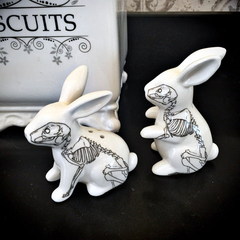 Bunny Bones Salt & Pepper Set