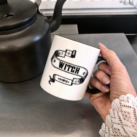 Curiosity Mug - Witch Scroll