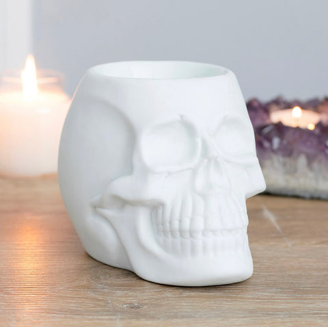 Skull Oil Burner - White