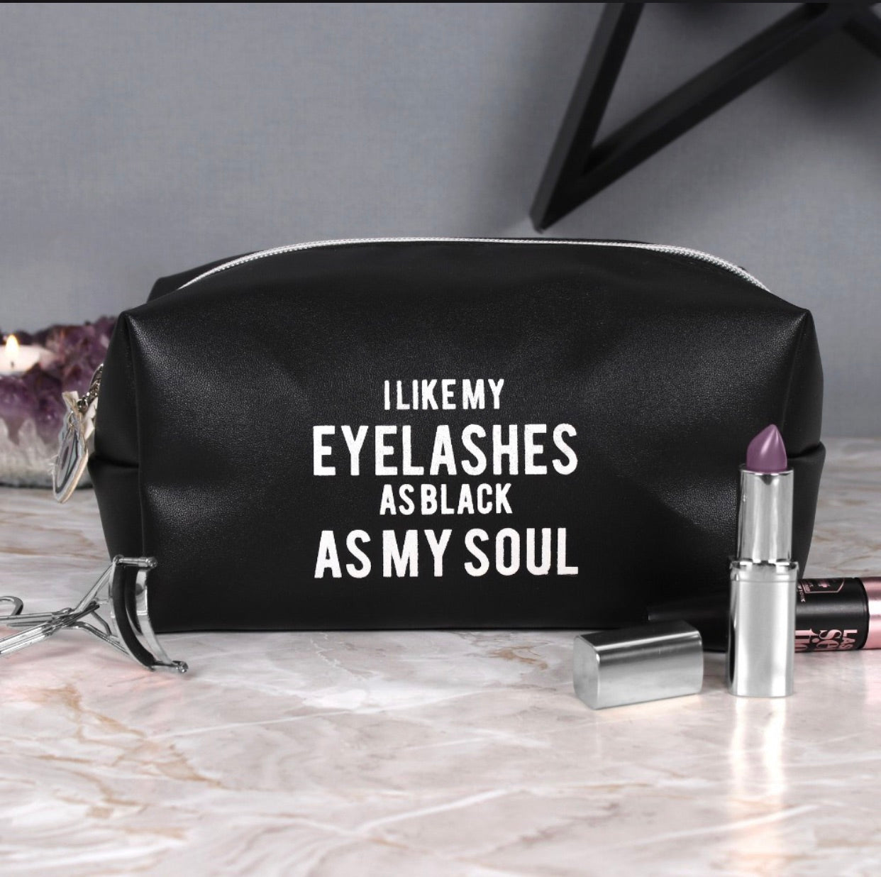 As Black As My Soul Makeup Bag
