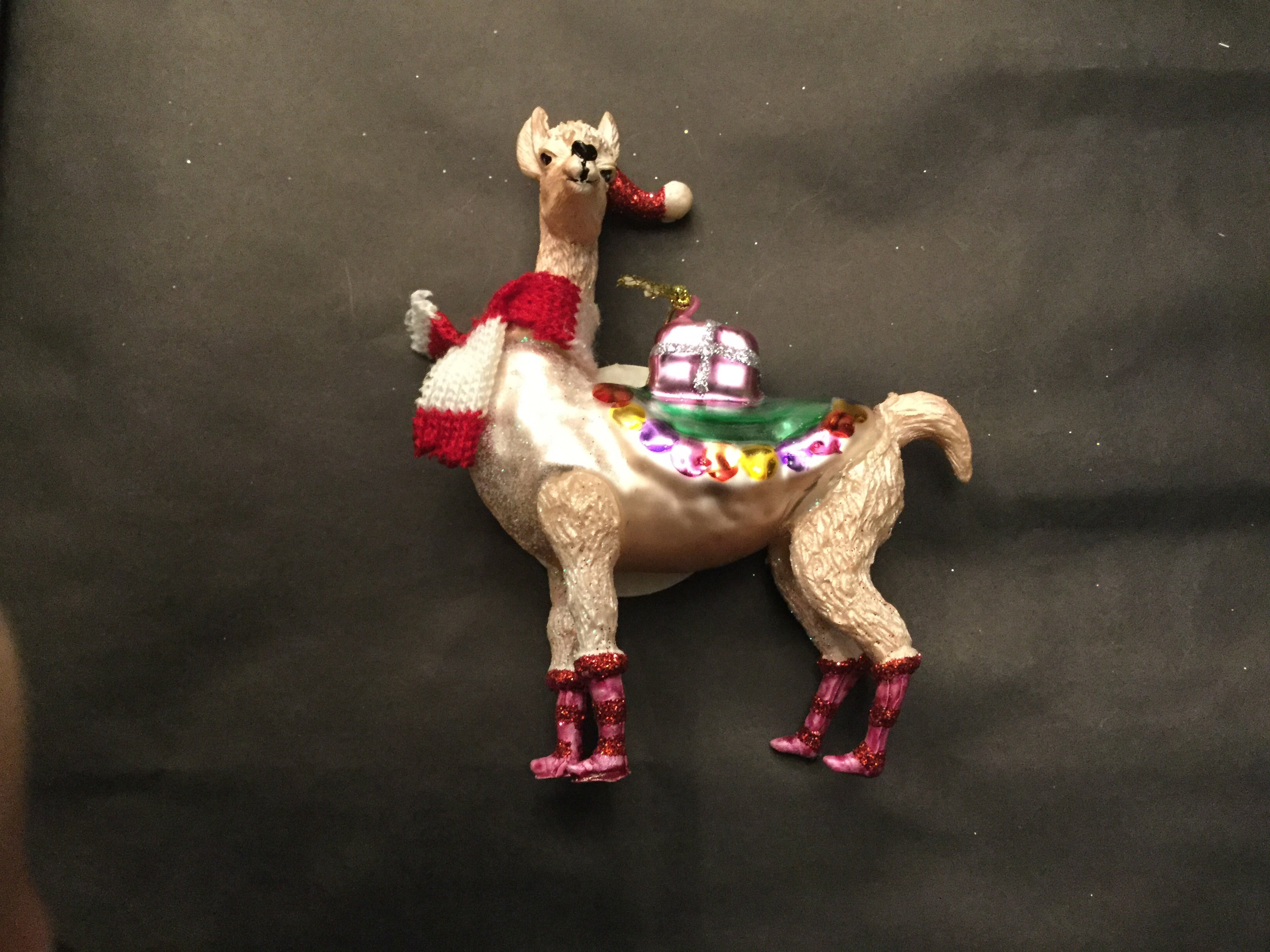 Festive Llama Gift Delivery Hanging Decoration