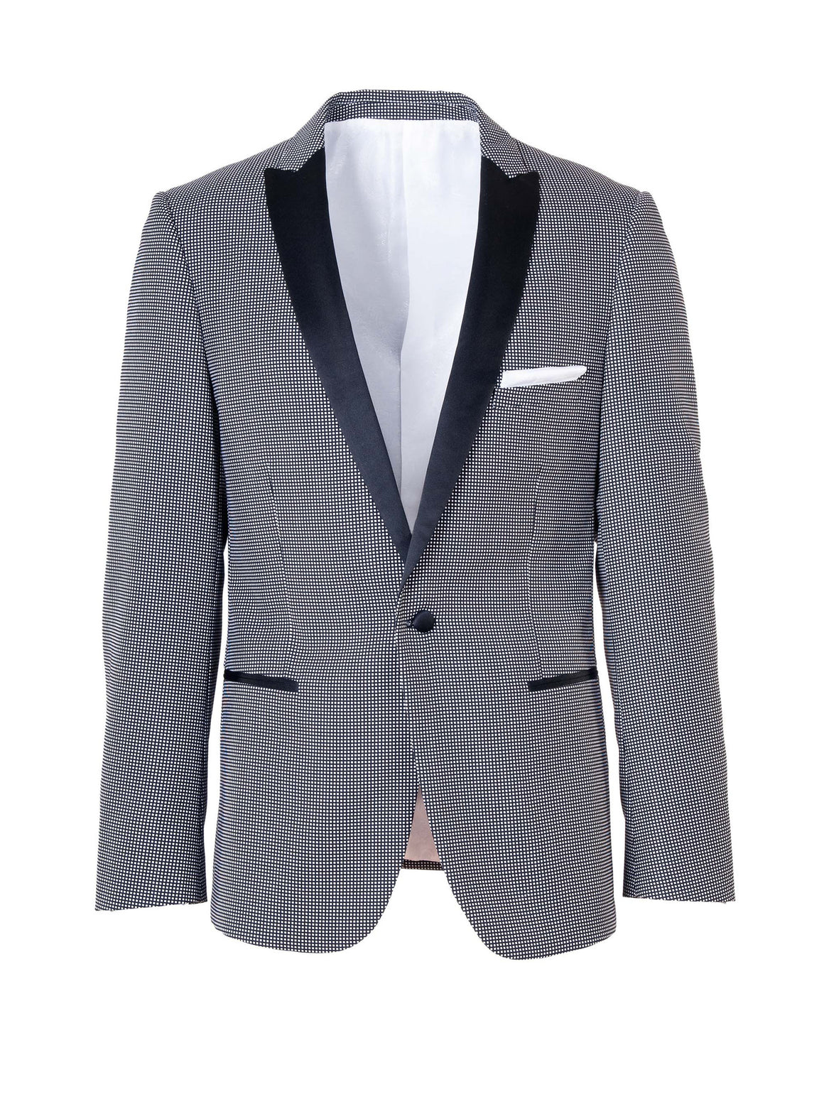 Grosvenor Peak Dinner Jacket - Black & White Squares