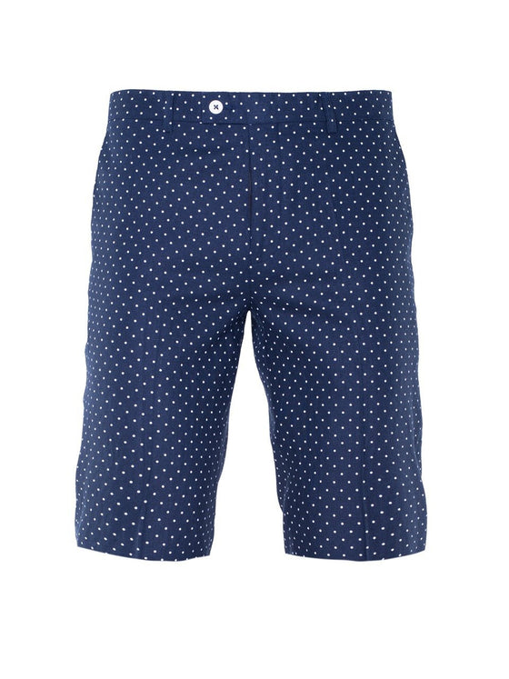 Fairview Shorts - Navy & White Polkadot