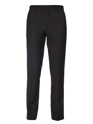 paisley & gray black with black satin leg stripe slim fit tuxedo pant 1881p
