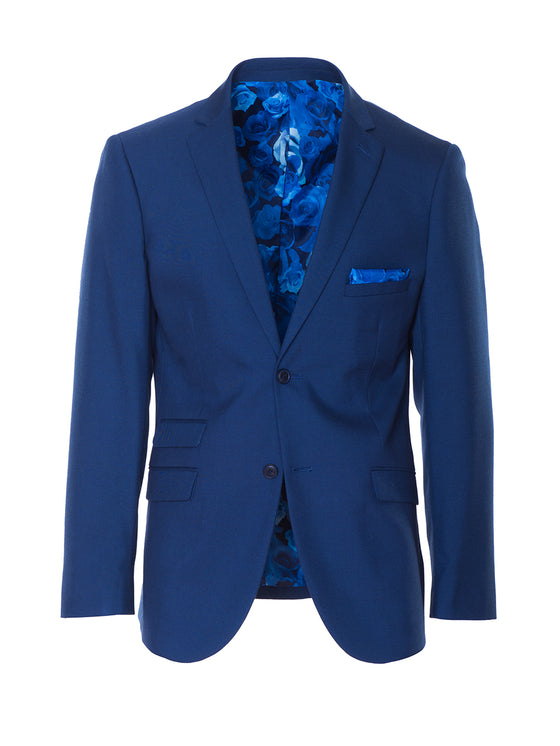 Dover Notch Jacket - Bright Blue Sharkskin