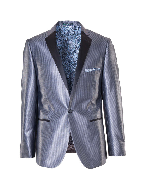 Osborne Notch Dinner Jacket - Silver Stripe