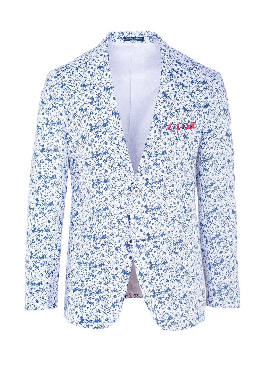 Dover Notch Blazer - White & Blue floral