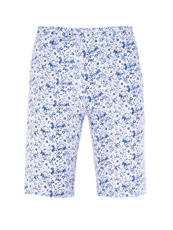 Fairview Shorts - White & Blue Floral