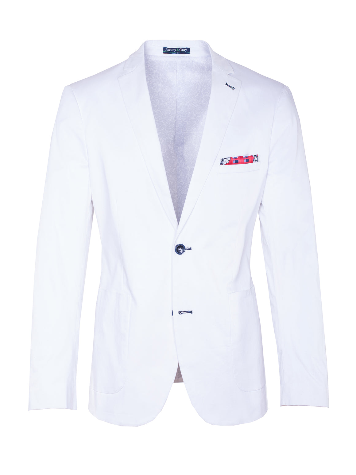 Ashton Peak Blazer - White Twill