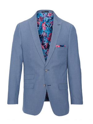 Ashton Peak Jacket - Blue Seersucker
