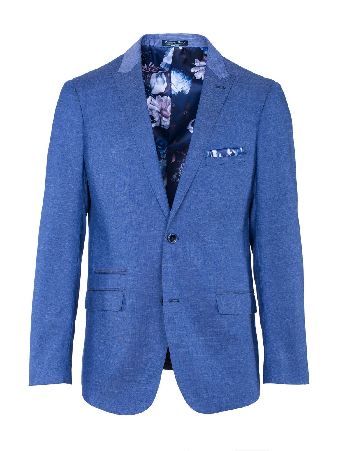 Grosvenor Peak Tuxedo Jacket - 2 Tone Chambray