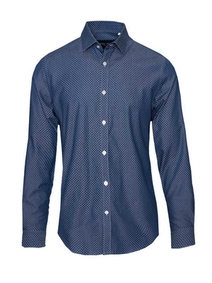 Long Sleeve Shirt - Denim Dots