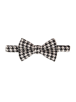 Bow Tie - Black & White Houndstooth