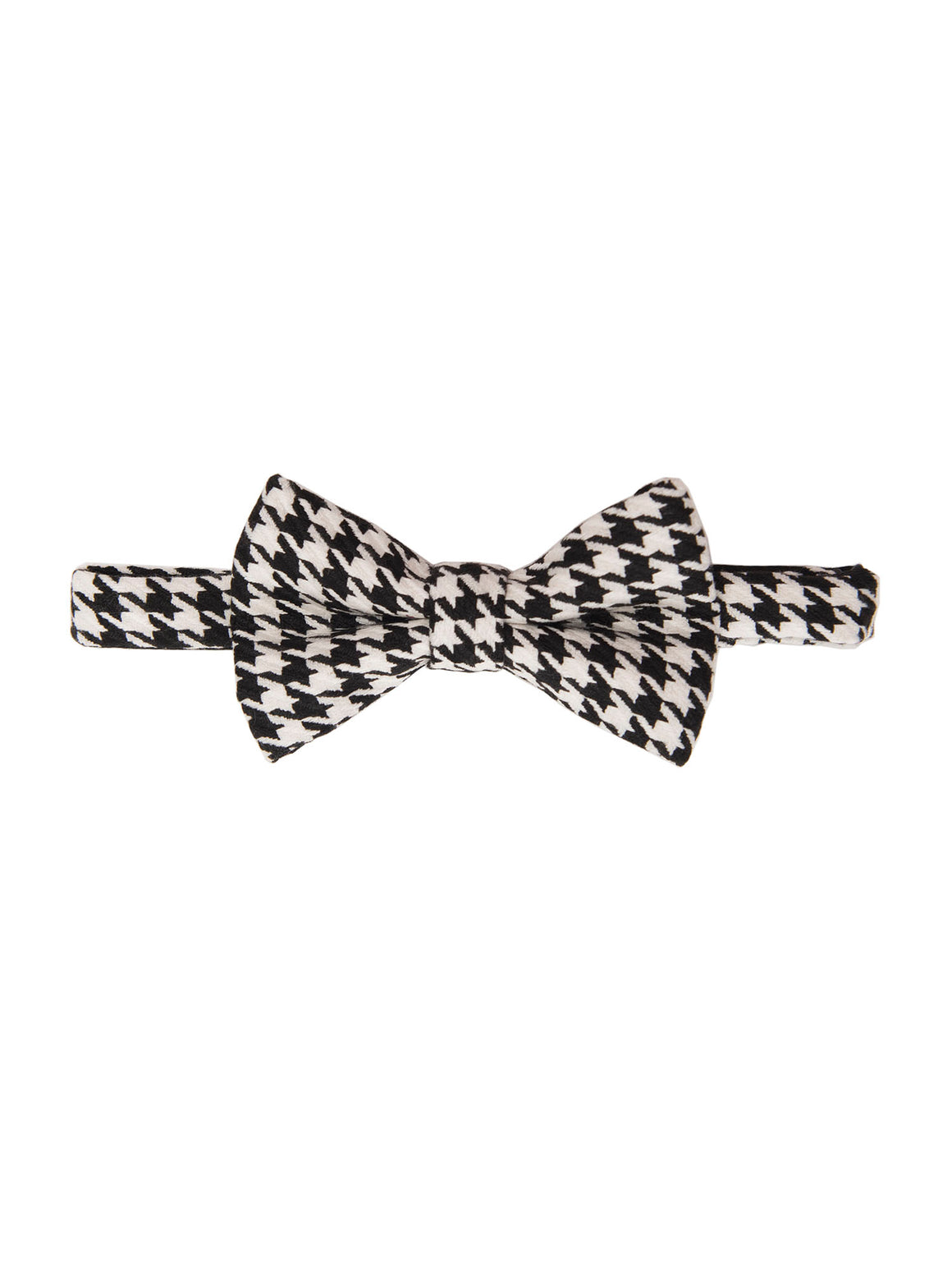 Bradley Bow Tie - Black & White Houndstooth