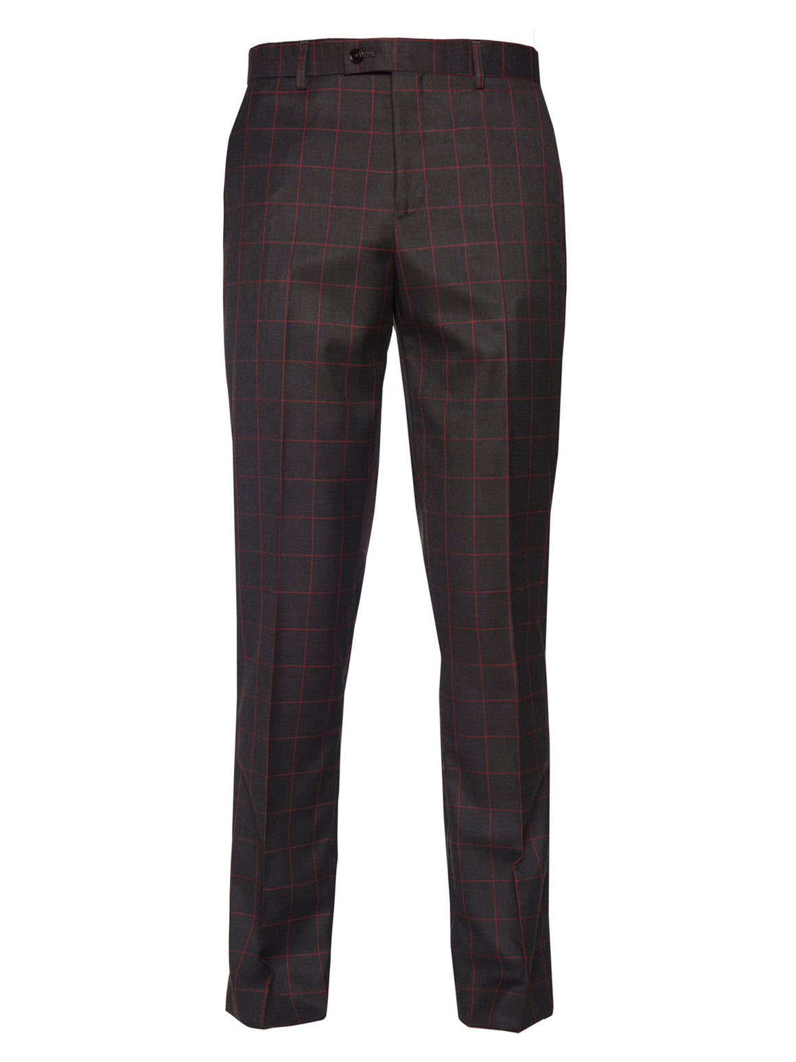 Downing Pant - Charcoal Red Windowpane