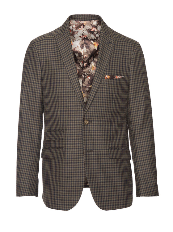 Ashton Peak Jacket - Olive Fall Gingham