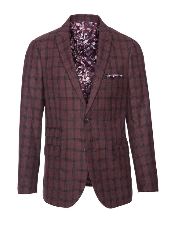 Ashton Peak Jacket - Dark Berry Plaid