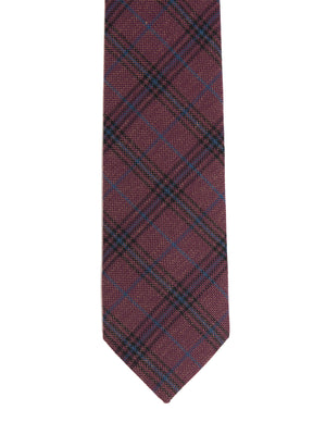 Slim Tie - Dark Berry Plaid