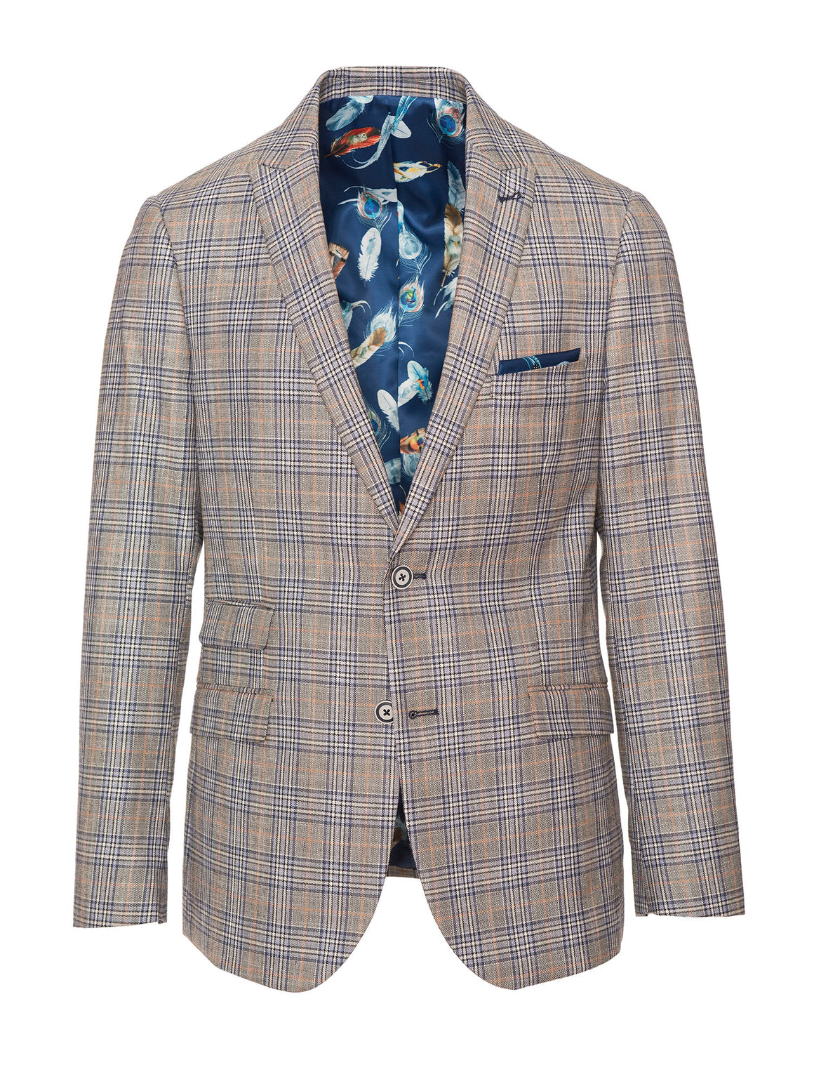 Ashton Peak Jacket - Blue Grey Plaid