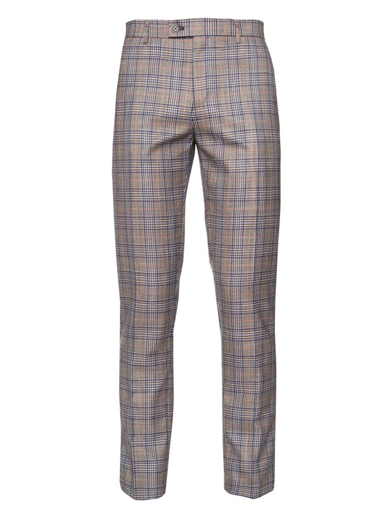 Downing Pant - Blue Grey Plaid
