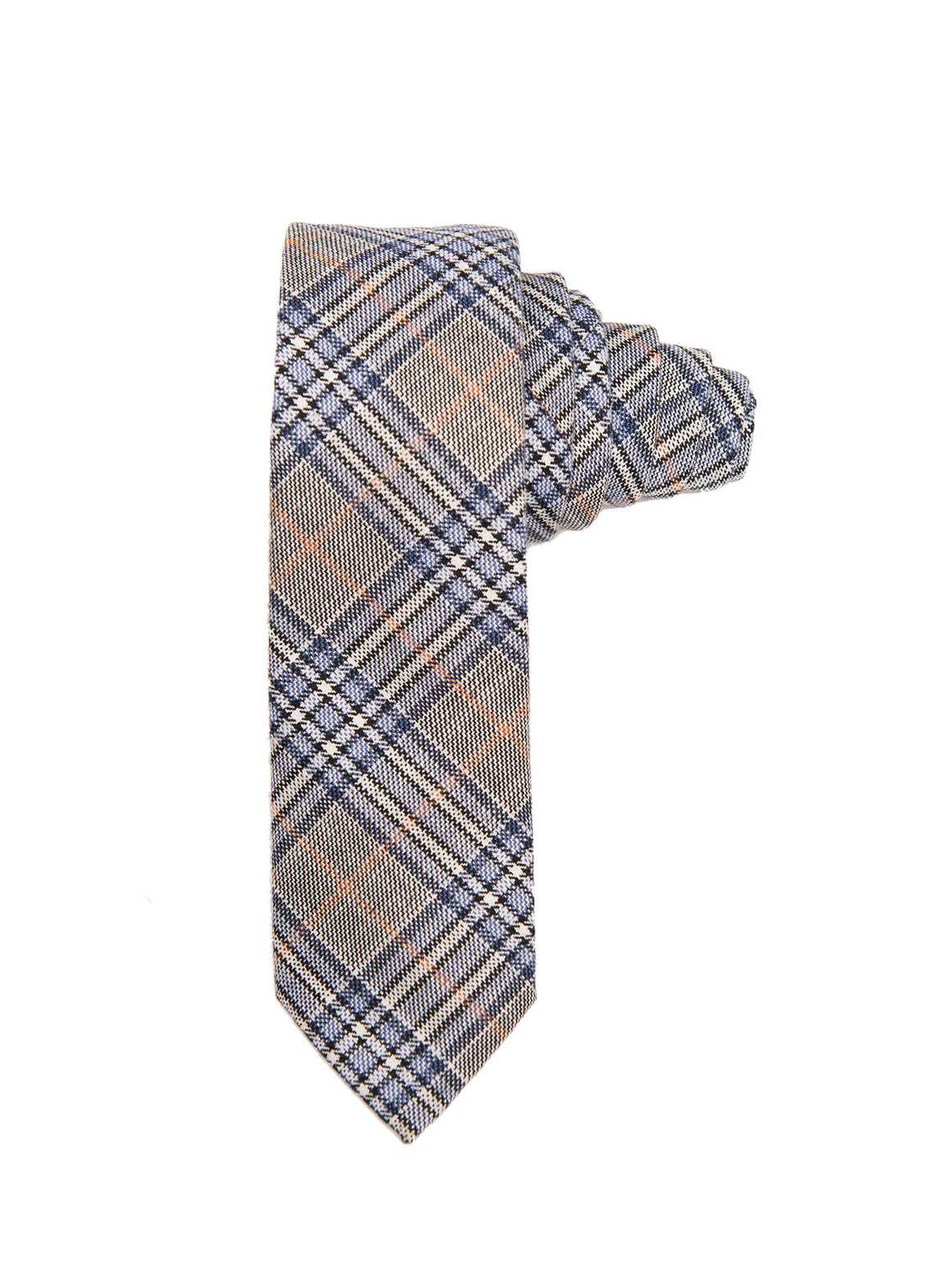 Slim Tie - Blue Grey Plaid