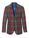 Dover Notch Jacket - Charcoal Red Tartan