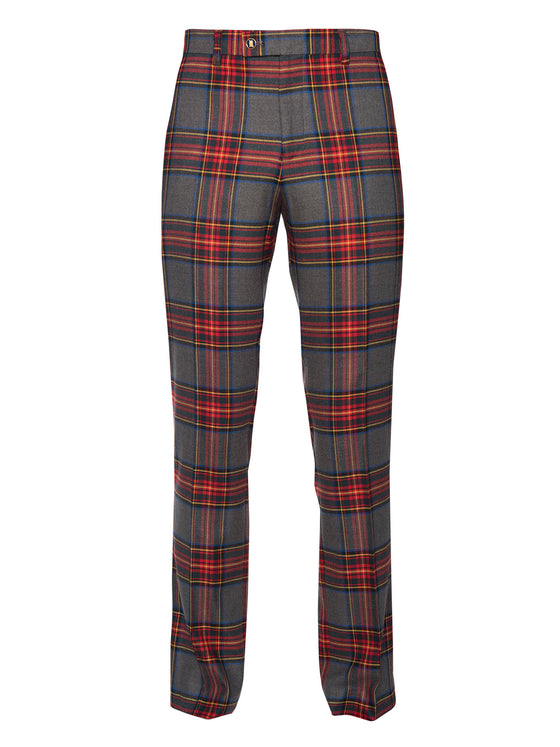 Downing Pant - Charcoal Red Tartan