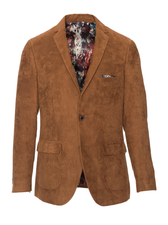 Dover Notch Jacket - Cognac Ultrasuede