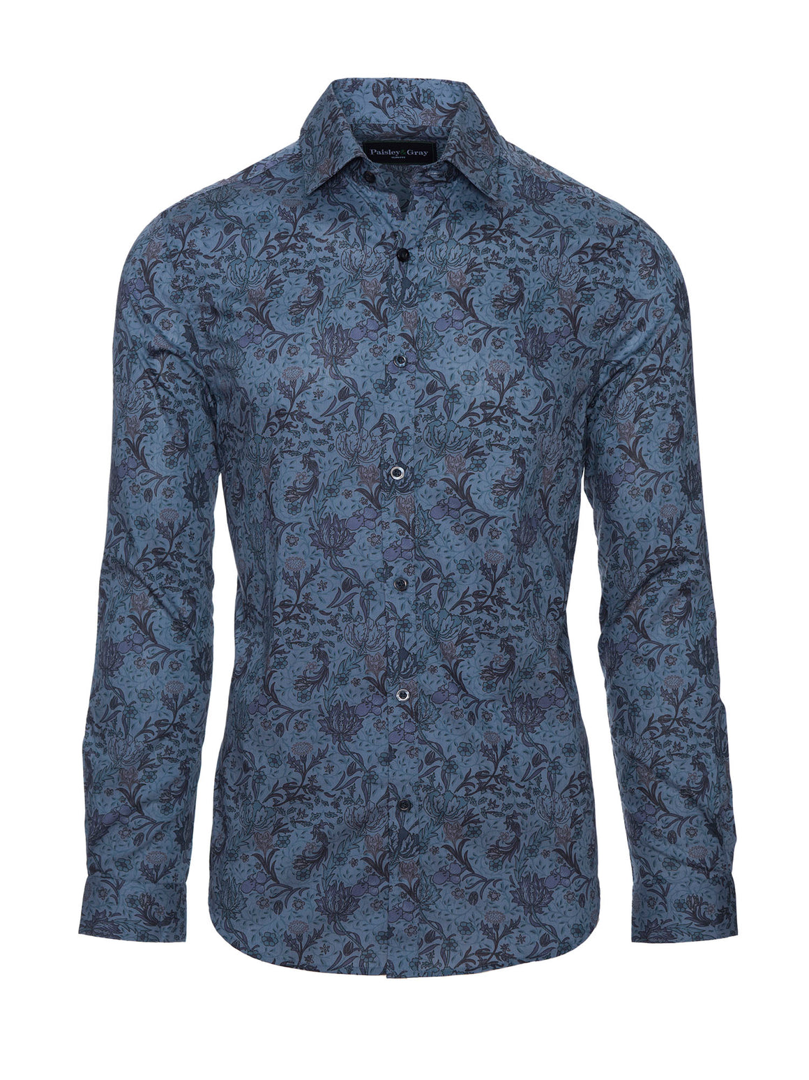 Slim Fit Shirt - Blue Floral