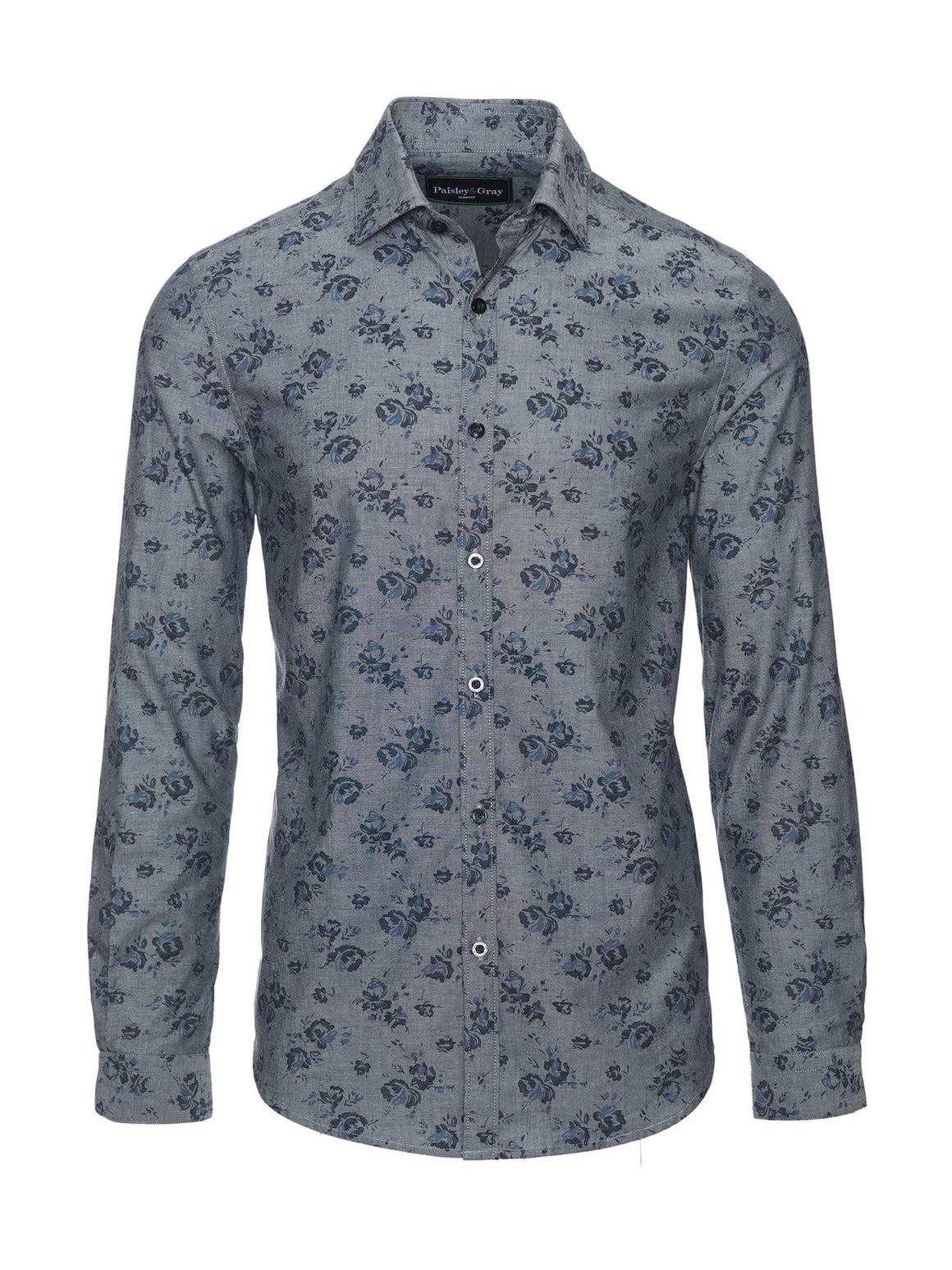 Slim Fit Shirt - Chambray Floral