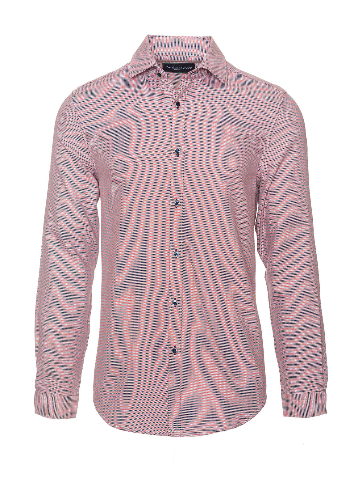Slim Fit Shirt - Red, White & Navy