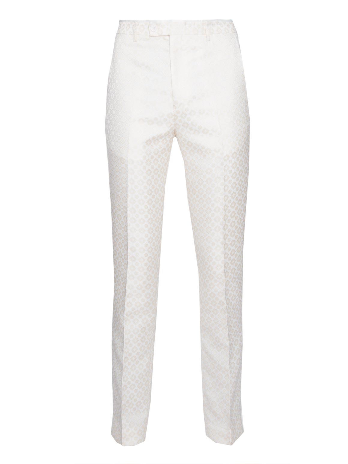 paisley & gray cream & gold diamond with white satin leg stripe slim fit tuxedo pant 2103p