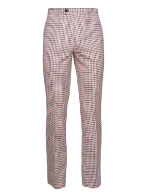 paisley & gray pink gingham slim fit suit pant 2119P