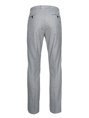 paisley & gray teal gingham slim fit suit pant 2122P
