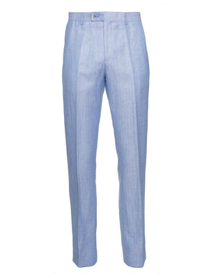 paisley & gray light blue herringbone slim fit suit pant 2137P