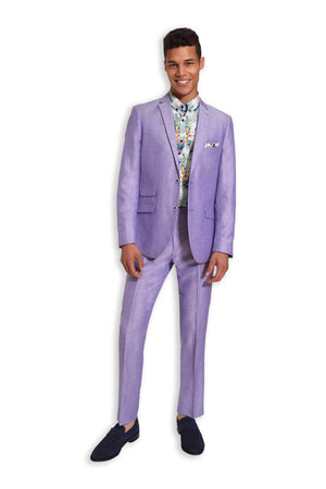 paisley & gray lilac herringbone slim fit notch lapel suit jacket 2138J lilac herringbone slim fit suit pant 2138P white rainforest slim fit button-down shirt 2273W