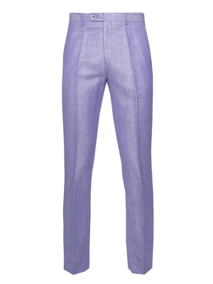 paisley & gray lilac herringbone slim fit suit pant 2138P