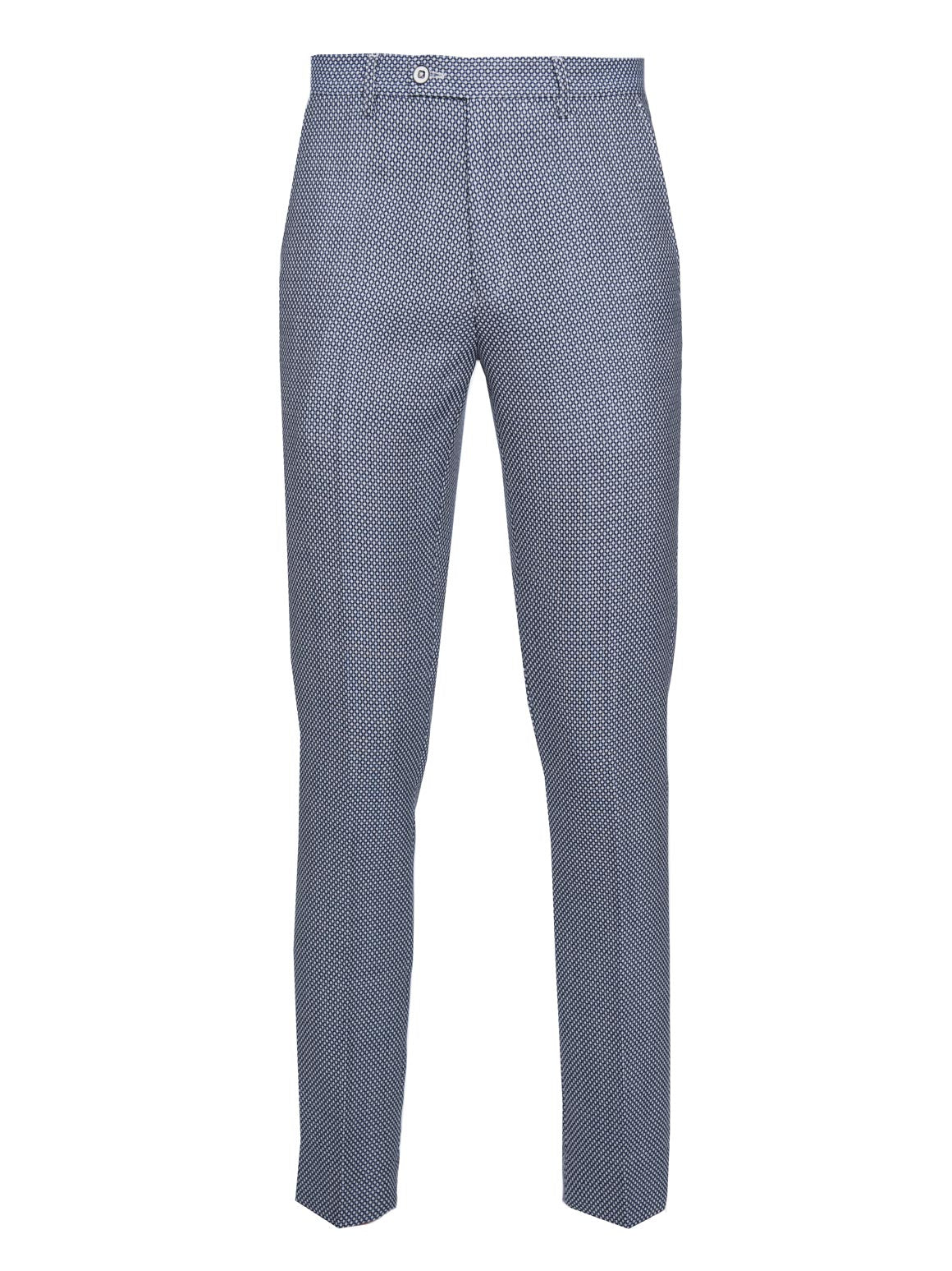 paisley & gray white & blue dot skinny fit suit pant 2141P