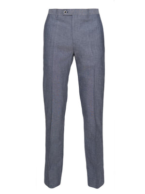 paisley & gray blue chambray slim fit suit pant 2149P