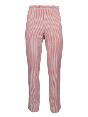 paisley & gray red stripe slim fit suit pant 2150P