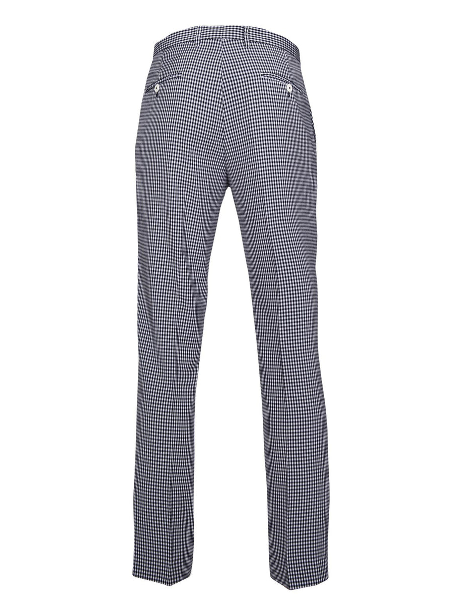 paisley & gray navy gingham slim fit suit pant 2151P