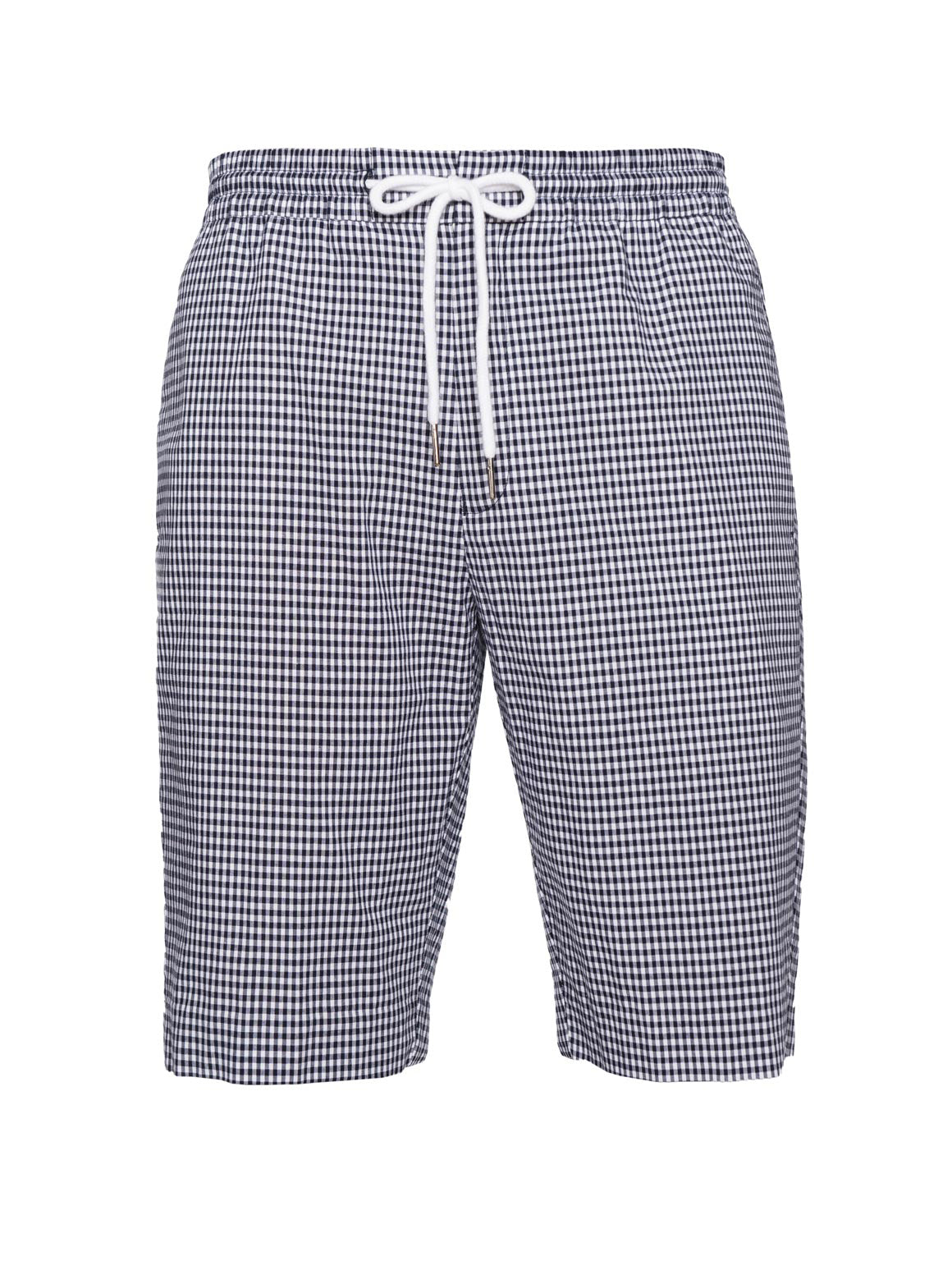paisley & gray navy gingham slim fit jogger short 2151S
