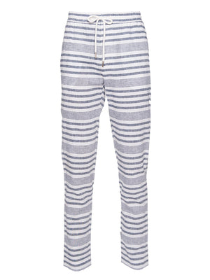 paisley & gray variegated blue stripe slim fit jogger pant 2153P