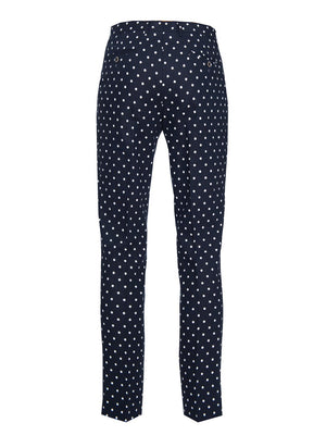 paisley & gray navy & white dot slim fit suit pant 2172P