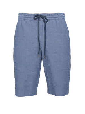 Jogger Short - Blue Seersucker